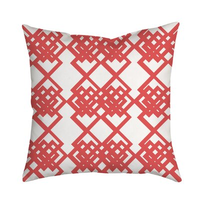 Summer Escapade Geometric Throw Pillow Size: 20 H x 20 W x 2 D, Color: Coral