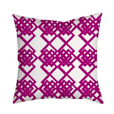 Summer Escapade Geometric Throw Pillow Size: 18 H x 18 W x 2 D, Color: Purple