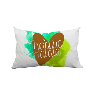 Hakuna Matata Love Textual Lumbar Pillow Color: Green