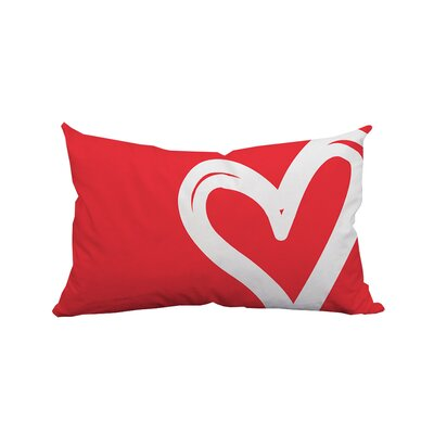Love Heartbeats Graphic Polyester Lumbar Pillow