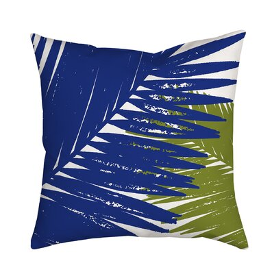 Trinidad Palm Leaves Graphic Polyester Throw Pillow Size: 18 H x 18 W x 2 D