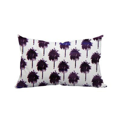 Mini Trinidad Palm Trees Polyester Lumbar Pillow Color: Dark Purple