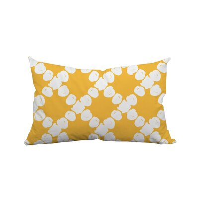 Round the Way Polka Dot Lumbar Polyester Pillow Color: Yellow
