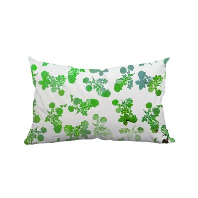 Rose Garden Polyester Lumbar Pillow Color: Green