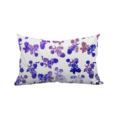 Rose Garden Polyester Lumbar Pillow Color: Purple