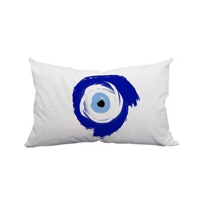 Evil Eye Brush Strokes Polyester Lumbar Pillow