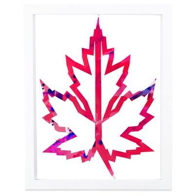 Maple Leaf Geometric Framed Graphic Art Maple Leaf_FrameW2
