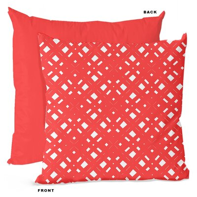 Lattice Geometric Throw Pillow Size: 18 H x 18 W x 4 D, Color: Coral