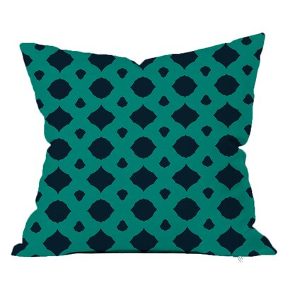 Infinity Geometric Throw Pillow Size: 18 H x 18 W x 4 D, Color: Navy