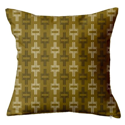 Interlock Geometric Throw Pillow Size: 16 H x 16 W x 5 D, Color: Taupe
