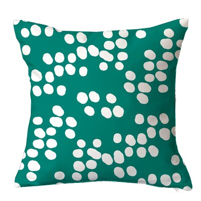 Random Specks Geometric Throw Pillow Size: 20 H x 20 W x x 5 D, Color: Teal