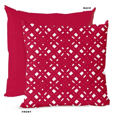 Lattice Geometric Throw Pillow Size: 18 H x 18 W x 4 D, Color: Flush Pink