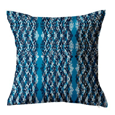 Batik Throw Pillow Size: 16 H x 16 W x 4 D, Color: Blue