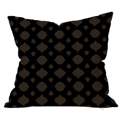 Infinity Geometric Throw Pillow Size: 16 H x 16 W x 4 D, Color: Black