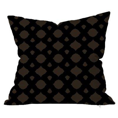 Infinity Geometric Throw Pillow Size: 18 H x 18 W x 4 D, Color: Black