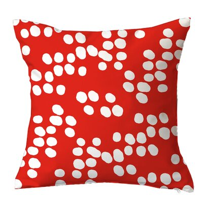 Random Specks Geometric Throw Pillow Size: 16 H x 16 W x 4 D, Color: Orange