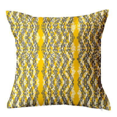 Batik Throw Pillow Size: 16 H x 16 W x 4 D, Color: Yellow