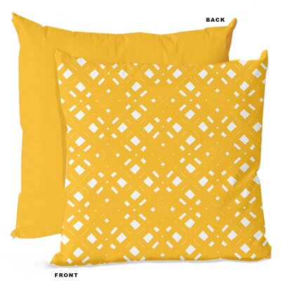 Lattice Geometric Throw Pillow Size: 16 H x 16 W x 4 D, Color: Lemonade