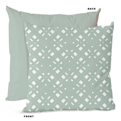 Lattice Geometric Throw Pillow Size: 16 H x 16 W x 4 D, Color: Mint Blue