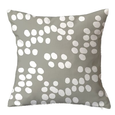 Random Specks Geometric Throw Pillow Size: 16 H x 16 W x 4 D, Color: Grey