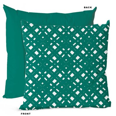 Lattice Geometric Throw Pillow Size: 16 H x 16 W x 4 D, Color: Teal