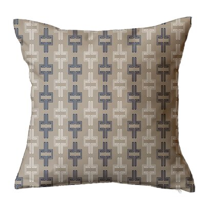 Interlock Geometric Throw Pillow Size: 16 H x 16 W x 5 D, Color: Navy