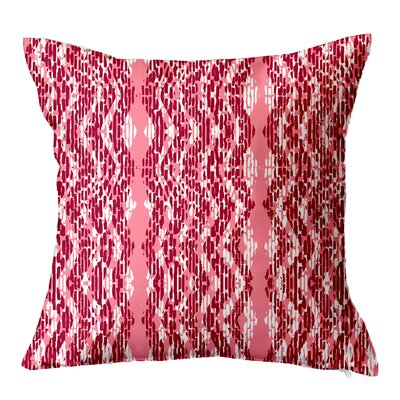 Batik Throw Pillow Size: 16 H x 16 W x 4 D, Color: Pink
