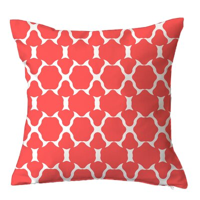 Villa Geometric Throw Pillow Size: 20 H x 20 W x 5 D, Color: Coral