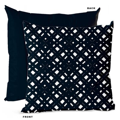 Lattice Geometric Throw Pillow Size: 16 H x 16 W x 4 D, Color: Navy