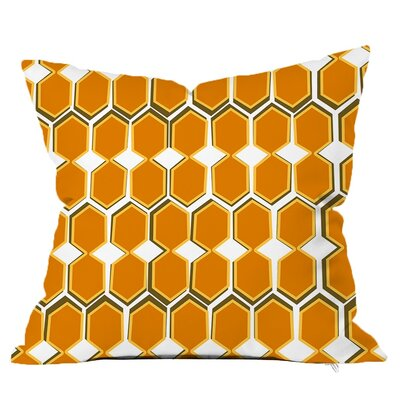 Beehive Throw Pillow Size: 20 H x 20 W x 5 D, Color: Yellow