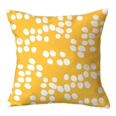 Random Specks Geometric Throw Pillow Size: 16 H x 16 W x 4 D, Color: Lemonade