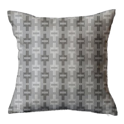 Interlock Geometric Throw Pillow Size: 16 H x 16 W x 5 D, Color: Grey