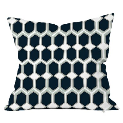 Beehive Throw Pillow Size: 16 H x 16 W x 4 D, Color: Navy