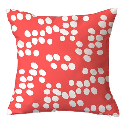 Random Specks Geometric Throw Pillow Size: 16 H x 16 W x 4 D, Color: Coral