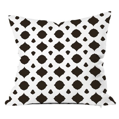 Infinity Geometric Throw Pillow Size: 18 H x 18 W x 4 D, Color: White