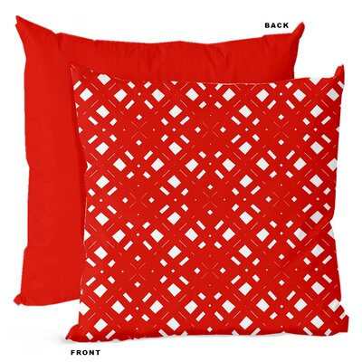 Lattice Geometric Throw Pillow Size: 16 H x 16 W x 4 D, Color: Orange