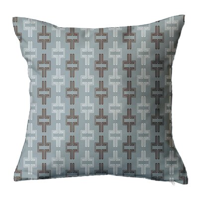 Interlock Geometric Throw Pillow Size: 18 H x 18 W x 5 D, Color: Blue