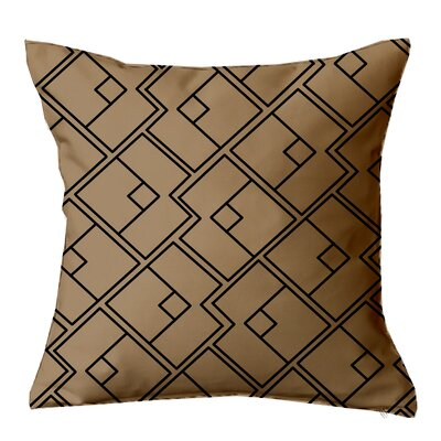 Chain Geometric Throw Pillow Size: 16 H x 16 W x 4 D, Color: Tan-Black