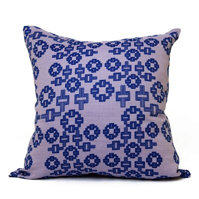 AhMaze Geometric Throw Pillow Size: 18 H x 18 W x 4 D, Color: Purple-Blue