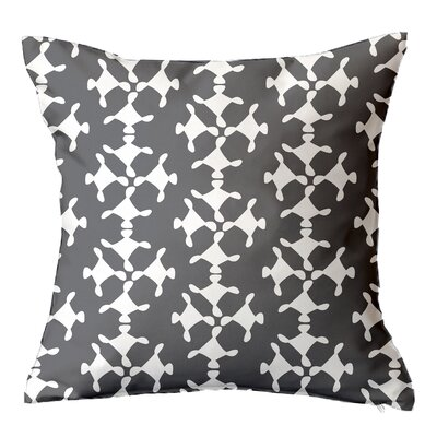Moving Circles Geometric Throw Pillow Size: 16 H x 16 W x 4 D, Color: Grey
