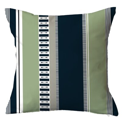 Rails n Stripes Throw Pillow Size: 16 H x 16 W x 4 D, Color: Mint