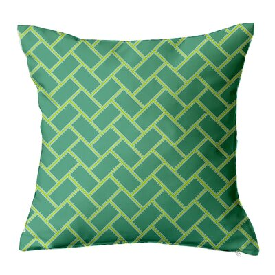 Subway Tile Throw Pillow Size: 18 H x 18 W x 4 D, Color: Teal