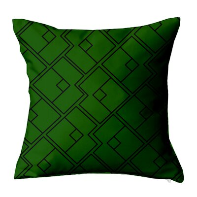 Chain Geometric Throw Pillow Size: 18 H x 18 W x 4 D, Color: Green-Black