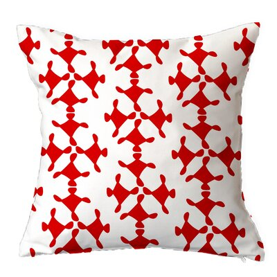 Moving Circles Geometric Throw Pillow Size: 16 H x 16 W x 4 D, Color: Red-Inverse