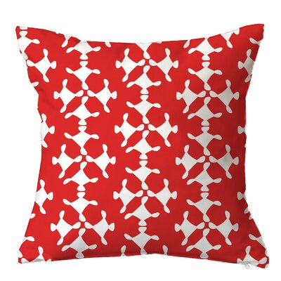 Moving Circles Geometric Throw Pillow Size: 18 H x 18 W x 4 D, Color: Red