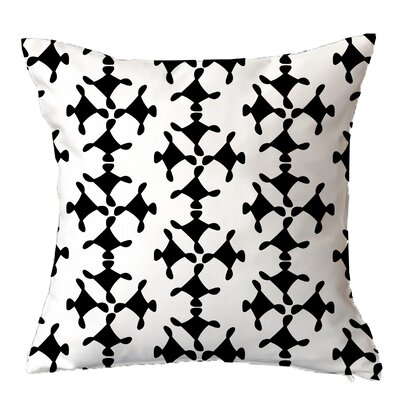 Moving Circles Geometric Throw Pillow Size: 16 H x 16 W x 4 D, Color: Black