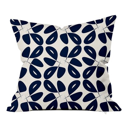 Leaves Floral Throw Pillow Size: 16 H x 16 W x 4 D