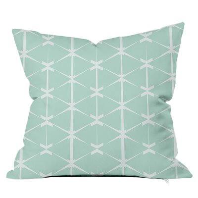 Love Triangles Throw Pillow Size: 16 H x 16 W x 4 D, Color: Blue