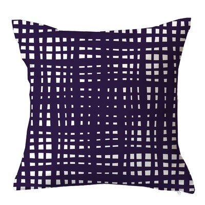 Framework Random Striped Throw Pillow Size: 18 H x 18 W x 4 D, Color: Purple