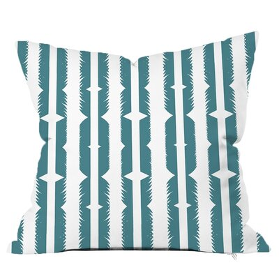 Tribe Feather Print Throw Pillow Size: 20 H x 20 W x 5 D, Color: Calm Blue